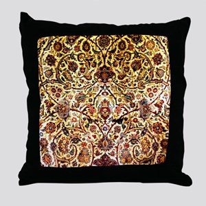 Persian silk carpet 2 v Throw Pillow