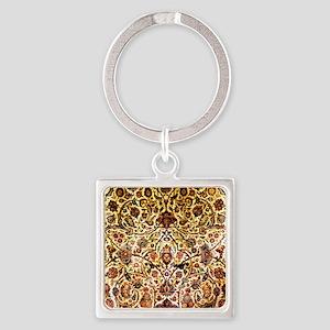 Persian silk carpet 2 v Square Keychain