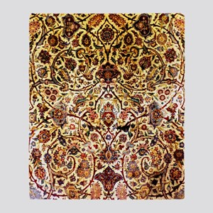 Persian silk carpet 2 v Throw Blanket