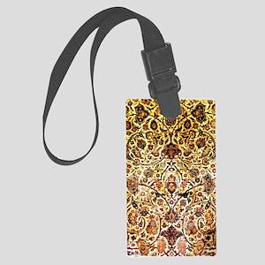 Persian silk carpet 2 v Large Luggage Tag