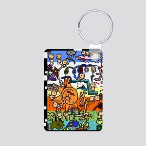Sometimes why- journal Aluminum Photo Keychain