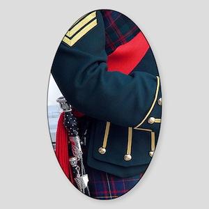 Bagpiper in kilt, Edinburgh Castle, Sticker (Oval)