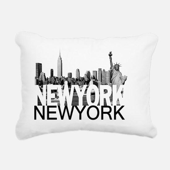 New York Skyline Rectangular Canvas Pillow