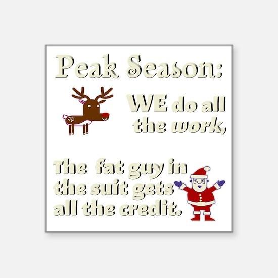 """peak-3000x3000-white Square Sticker 3"""" x 3"""""""