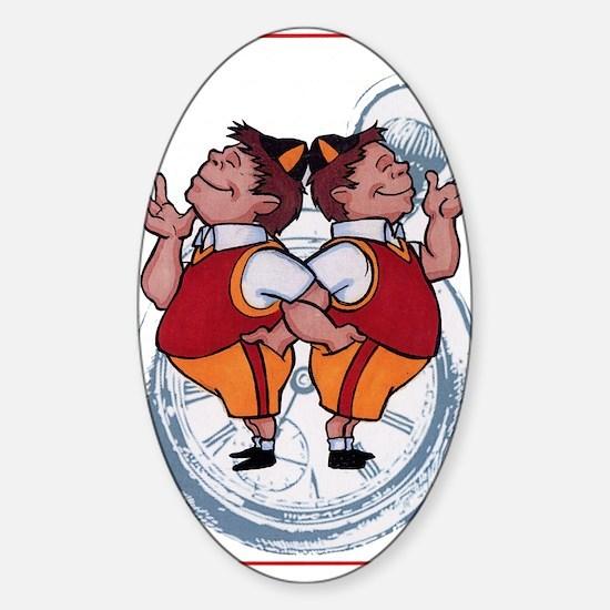 tweedles Sticker (Oval)