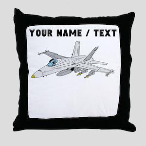 Custom Fighter Jet Throw Pillow