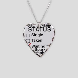 single_taken_sparking_vampire Necklace Heart Charm