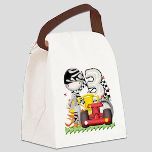 racecar3 Canvas Lunch Bag