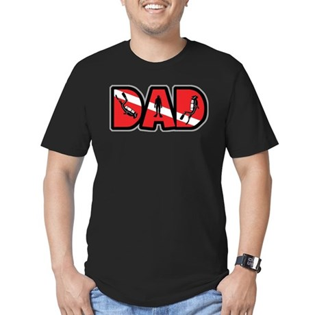 SCUBA Dad Men's Fitted T-Shirt (dark)