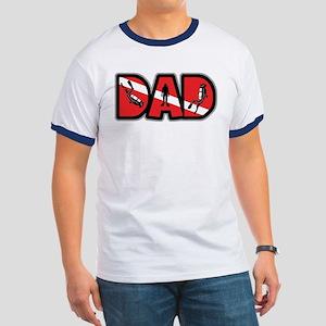 SCUBA Dad Ringer T