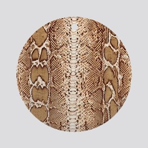 pillow-snake-skin-3 Round Ornament