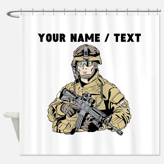 Custom Army Soldier Shower Curtain