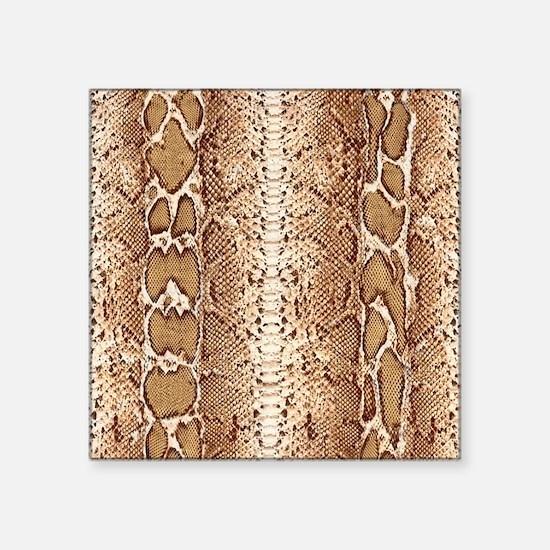 "pillow-snake-skin-3 Square Sticker 3"" x 3"""