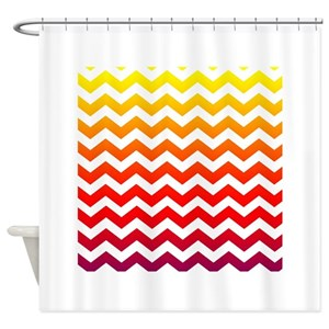 Rainbow Chevron Shower Curtains