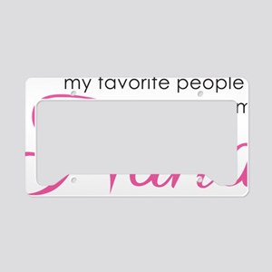NanaFavoritePeople License Plate Holder