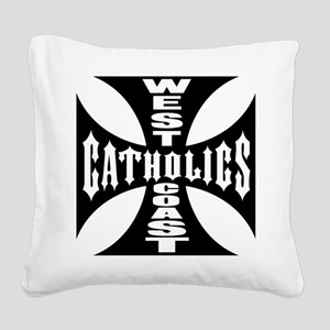 West Coast Catholic Square Canvas Pillow