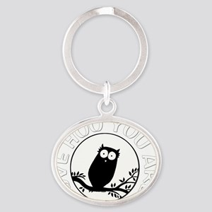 LoveWooYouAre-dark Oval Keychain