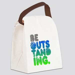 Bright Be Outstanding Canvas Lunch Bag