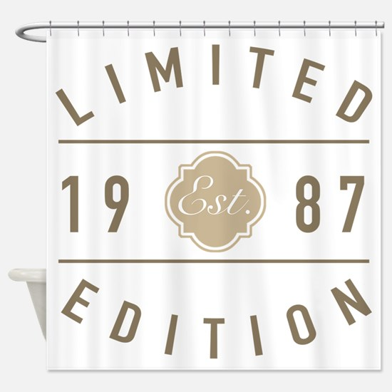 1987 Limited Edition Shower Curtain