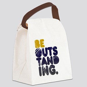 Navy  Gold Be Outstanding Canvas Lunch Bag