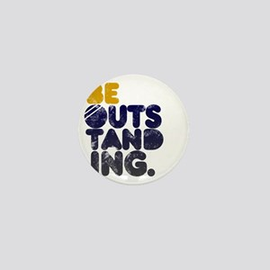 Navy  Gold Be Outstanding Mini Button