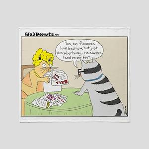 Cat-Finances Throw Blanket