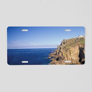 Europe, England, Cornwall.  Aluminum License Plate