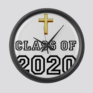 Class Of 2020 Cross Black 1 Large Wall Clock