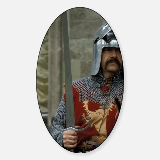 Europe, England, Warwick Castle. Me Sticker (Oval)