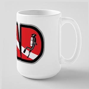 SCUBA Dad Large Mug