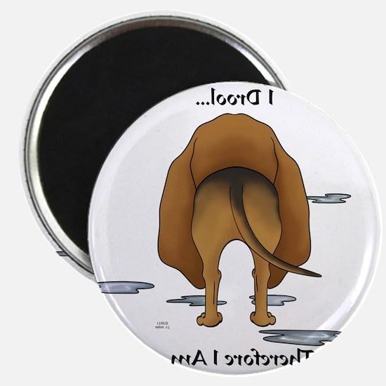 BloodhoundDroolMirrorLight Magnet