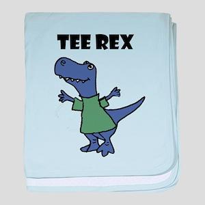 Funny T-Rex Dinosaur Pun baby blanket