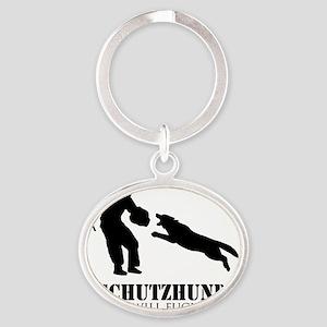 schutzzz2 Oval Keychain