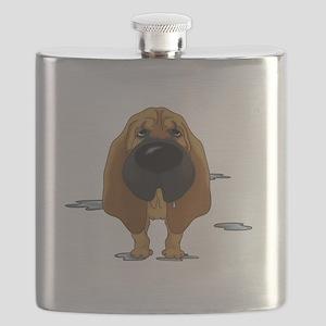 BloodhoundDroolDark Flask