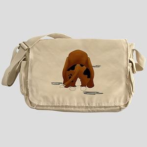BassetDroolMirrorDark Messenger Bag
