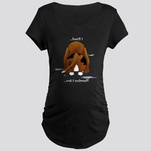 BassetDroolMirrorDark Maternity Dark T-Shirt