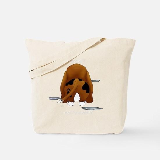 BassetDroolMirrorDark Tote Bag
