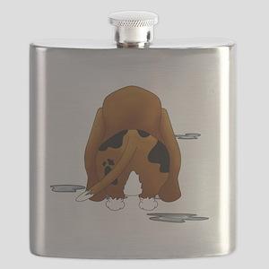 BassetDroolMirrorDark Flask