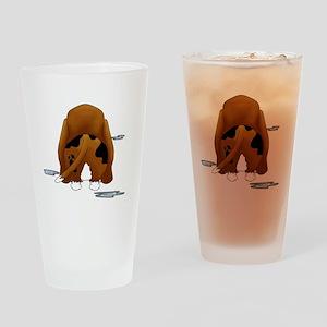 BassetDroolMirrorDark Drinking Glass