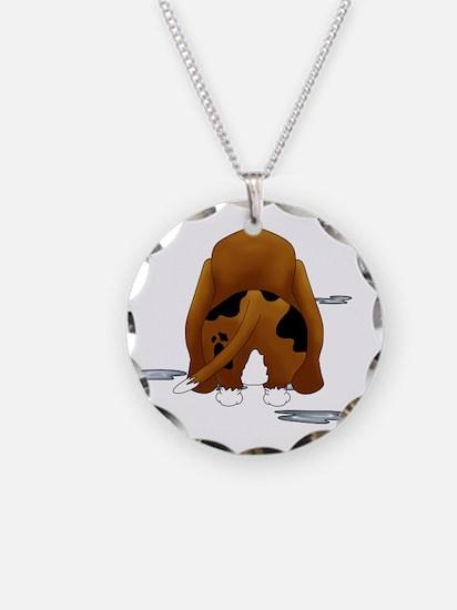 BassetDroolMirrorDark Necklace