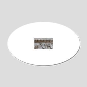 Antonius Pius. Roman emperor 20x12 Oval Wall Decal