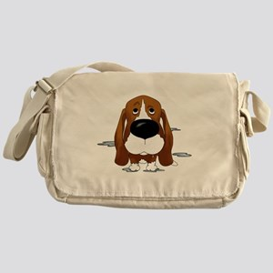 BassetDroolDark Messenger Bag