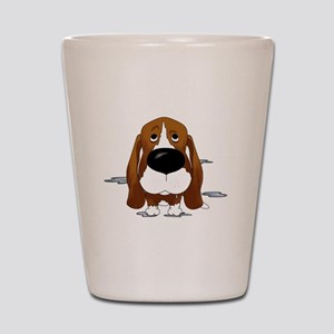 BassetDroolDark Shot Glass