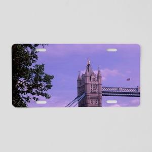 Tower Bridge at sunset, Lon Aluminum License Plate