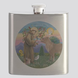 R-St Francis-ShetlandPONY Flask
