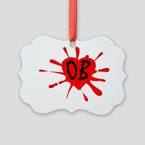 LogoOB orange Picture Ornament