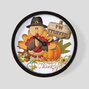 1st thanksgiving copy Wall Clock