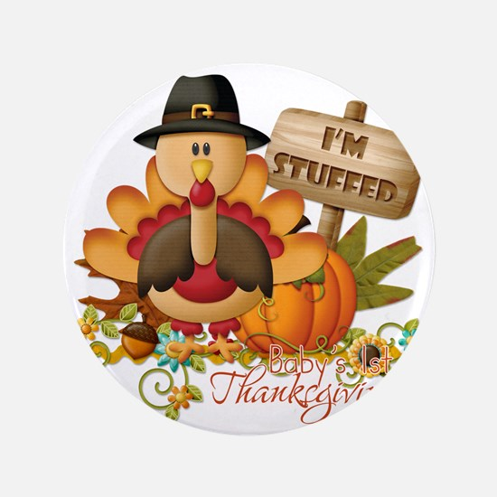 "1st thanksgiving copy 3.5"" Button"