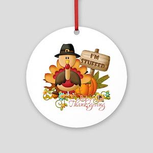 1st thanksgiving copy Round Ornament
