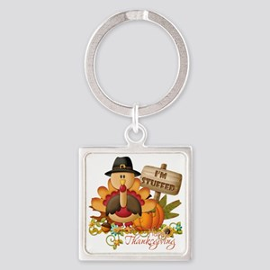 thanksgiving copy Square Keychain